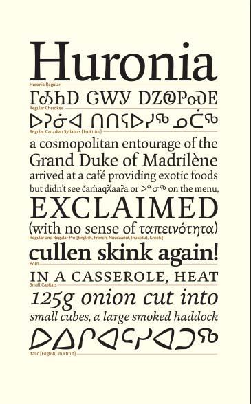 Huronia Specimen © Ross Mills/Tiro Typeworks