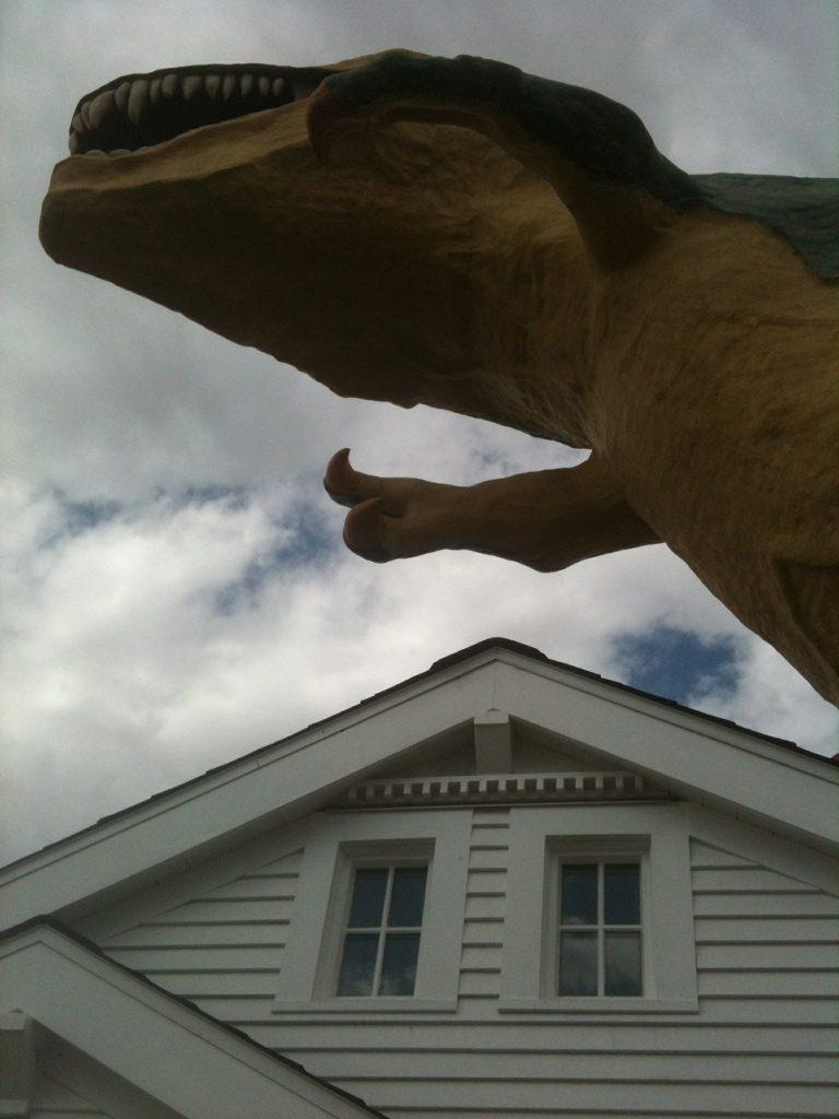 The Cardiff/Miller House meets a dinosaur in Drumheller, Alberta